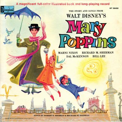 Mary Poppins /Cartoon Soundtrack CD. Mary Poppins /Cartoon Soundtrack