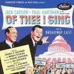 Of Thee I Sing Soundtrack CD. Of Thee I Sing Soundtrack